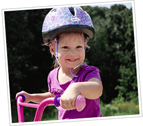 Toddler riding bike with Handlebar Helmet